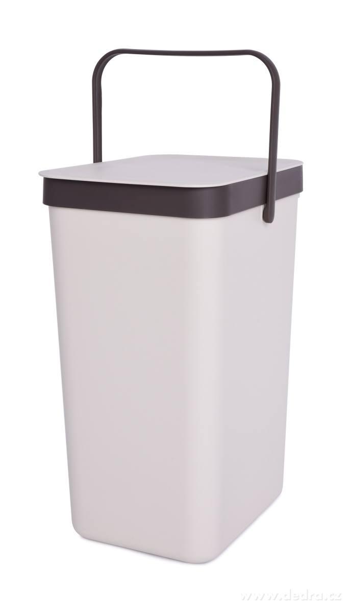 Dedra Závěsný odpadkový koš 16 L s odklápěcím víkem a uchem
