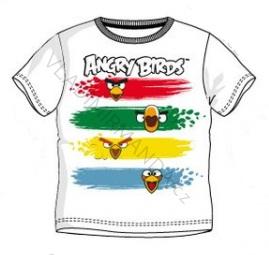 Triko Angry Birds krátký rukáv vel. 128/8