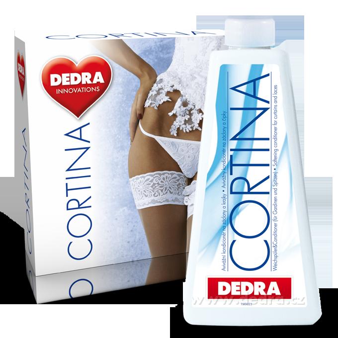 Dedra Cortina prášek 500 g + kondicionér 500 ml zdarma , na záclony a krajky