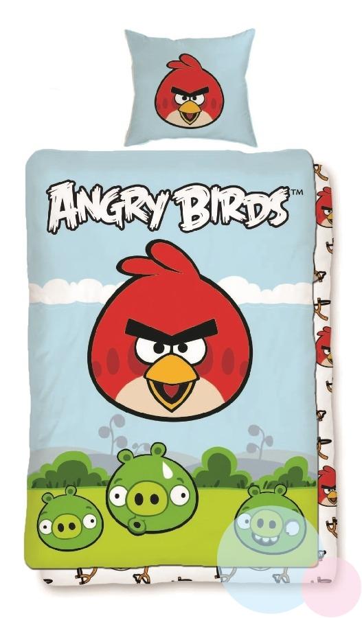 Bavlněné povlečení, ložní souprava Angry Birds