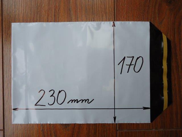 100ks plastová obálka A5 170x230+40mm klopa