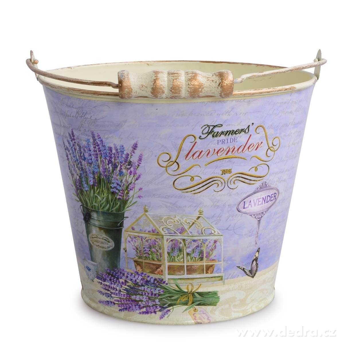 Dedra Kovový dekorativní obal na květináč Lavender velký