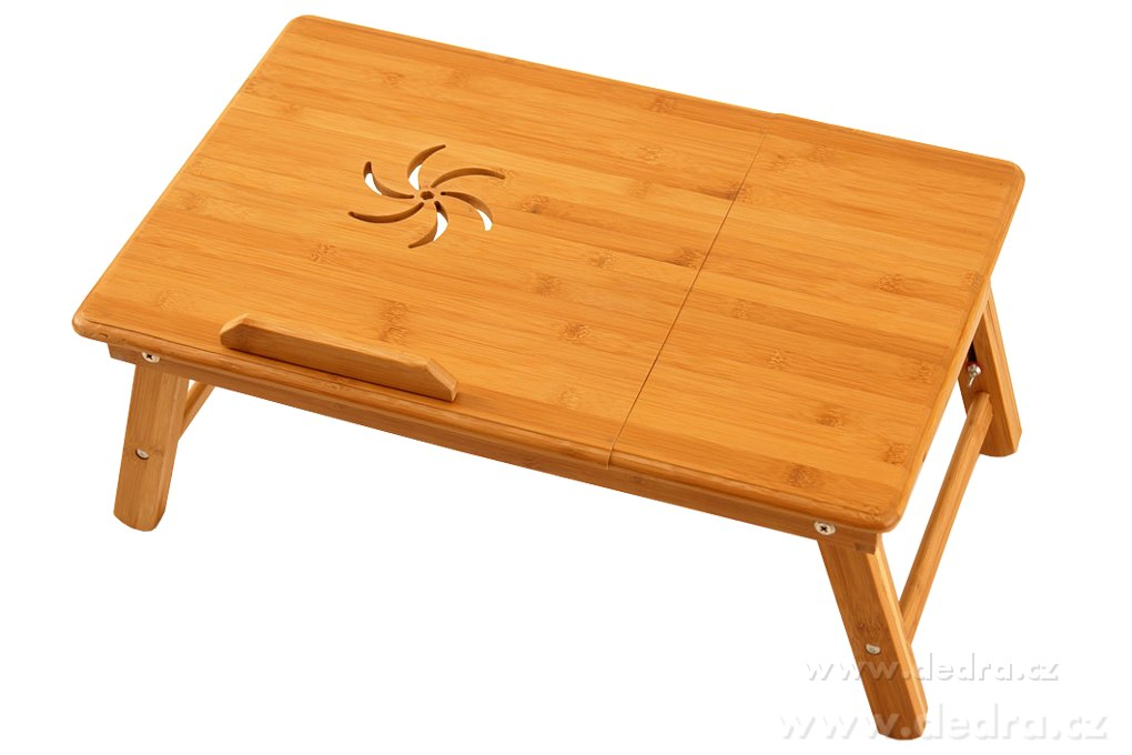 Dedra Bambusový stolek pod notebook i na snídani do postele