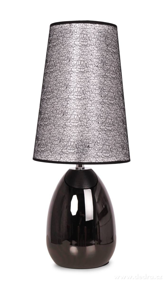 Dedra Touch dotyková lampa černá