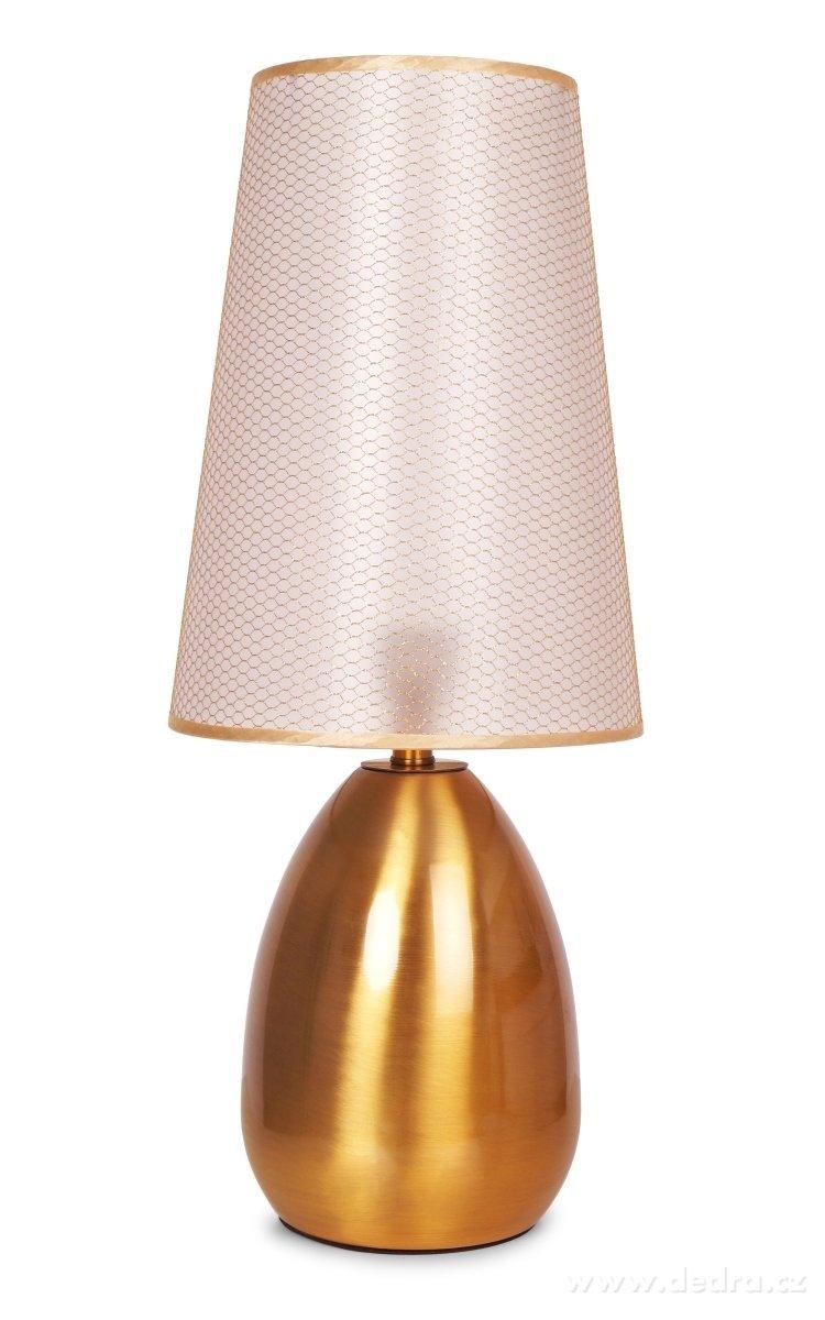Dedra Touch dotyková lampa zlatá
