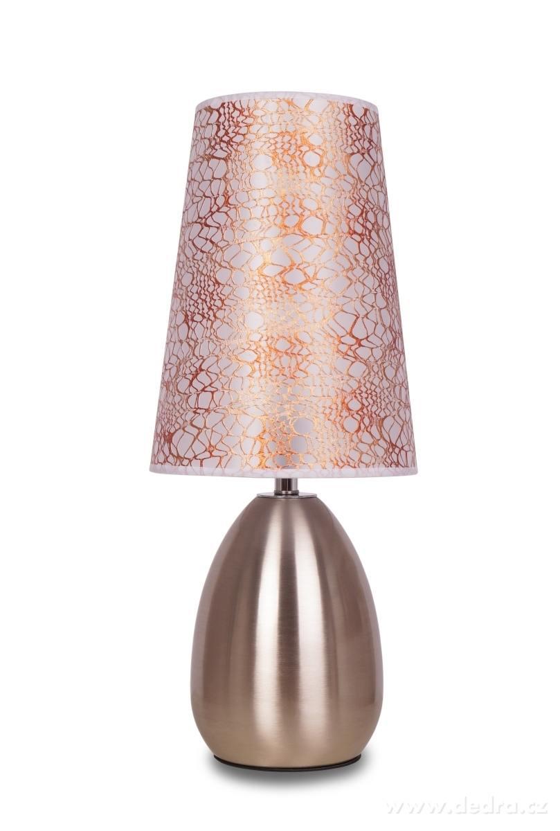 Dedra Touch dotyková lampa matná stříbrná