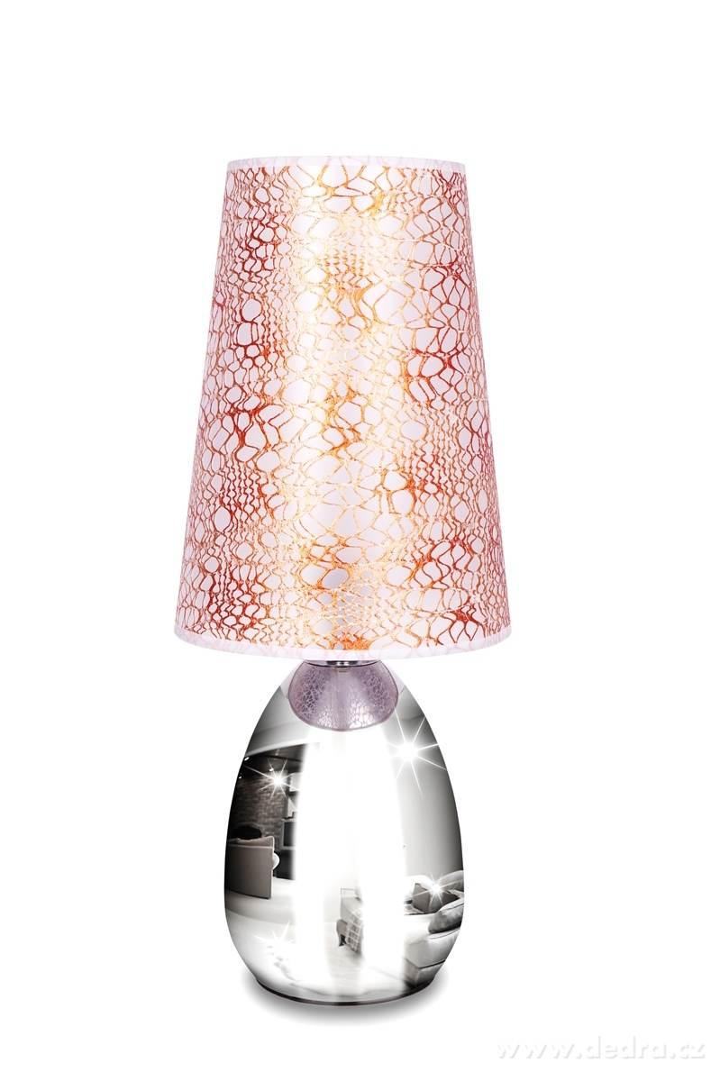 Dedra Touch dotyková lampa lesklá stříbrná