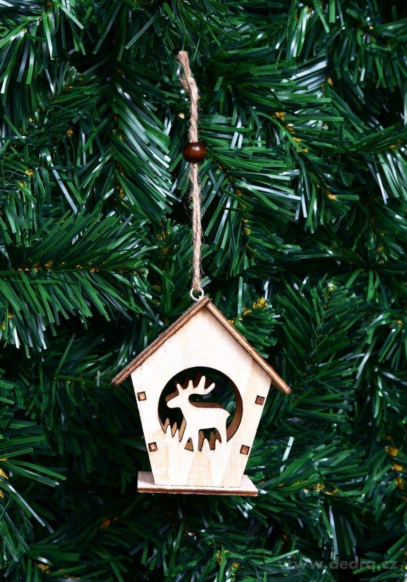 Dedra Dřevěný dekorativní domek se sobem