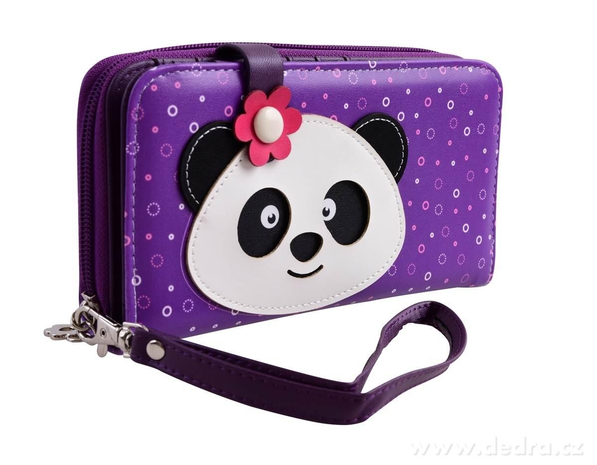 Dedra Peněženka Kikistar® z ekokůže větší violet