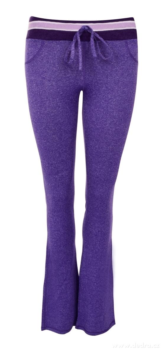 Dedra Dámské kalhoty sportovní fialová melange