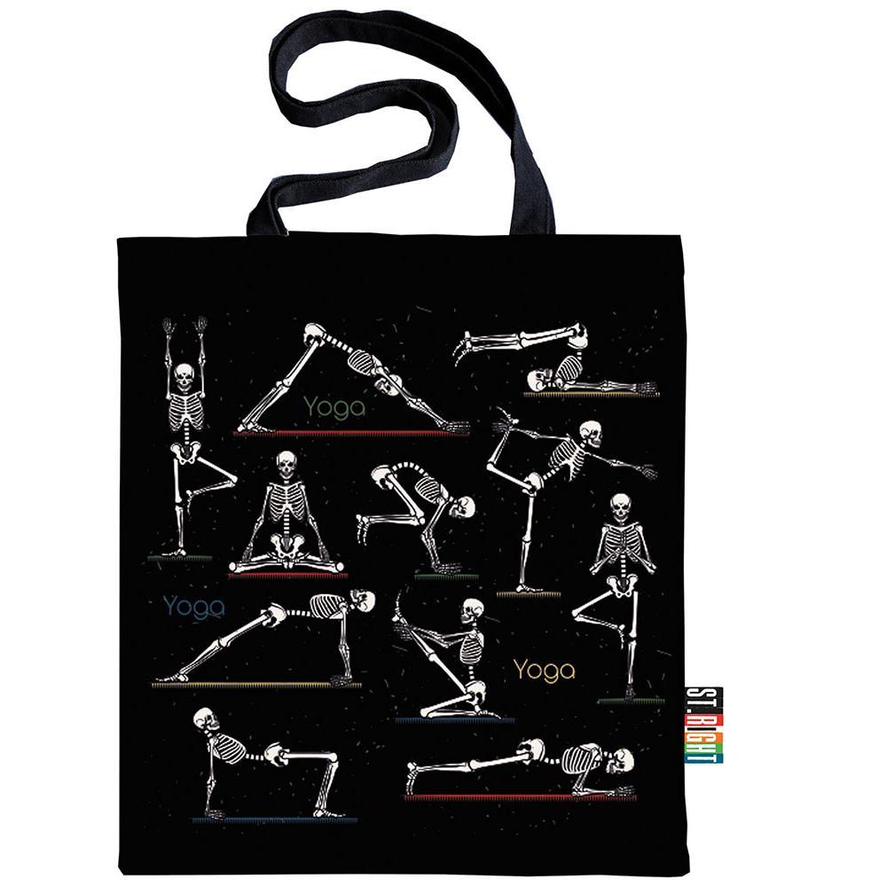 Velká textilní taška St.Right Skeleton
