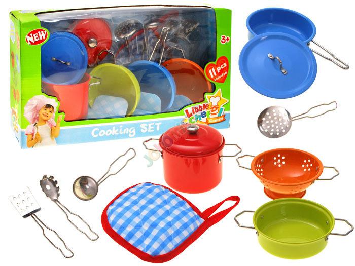 Sada barevného plechového nádobí