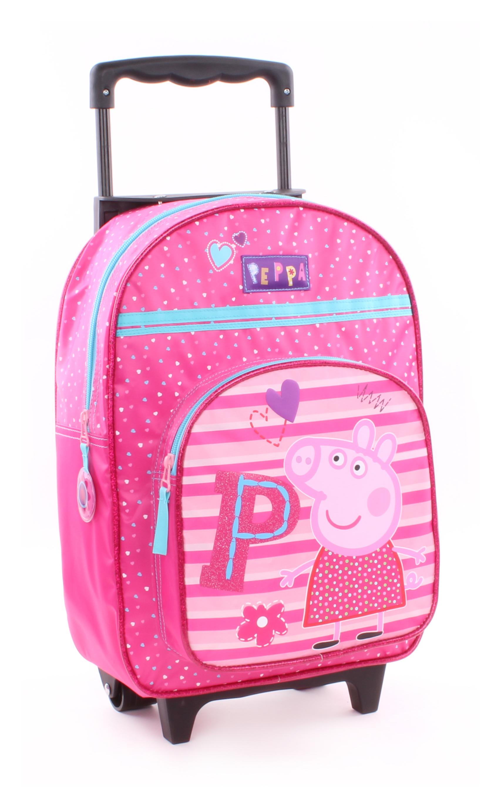 Vadobag Cestovní batoh na kolečkách Peppa Pig, prasátko Pepina