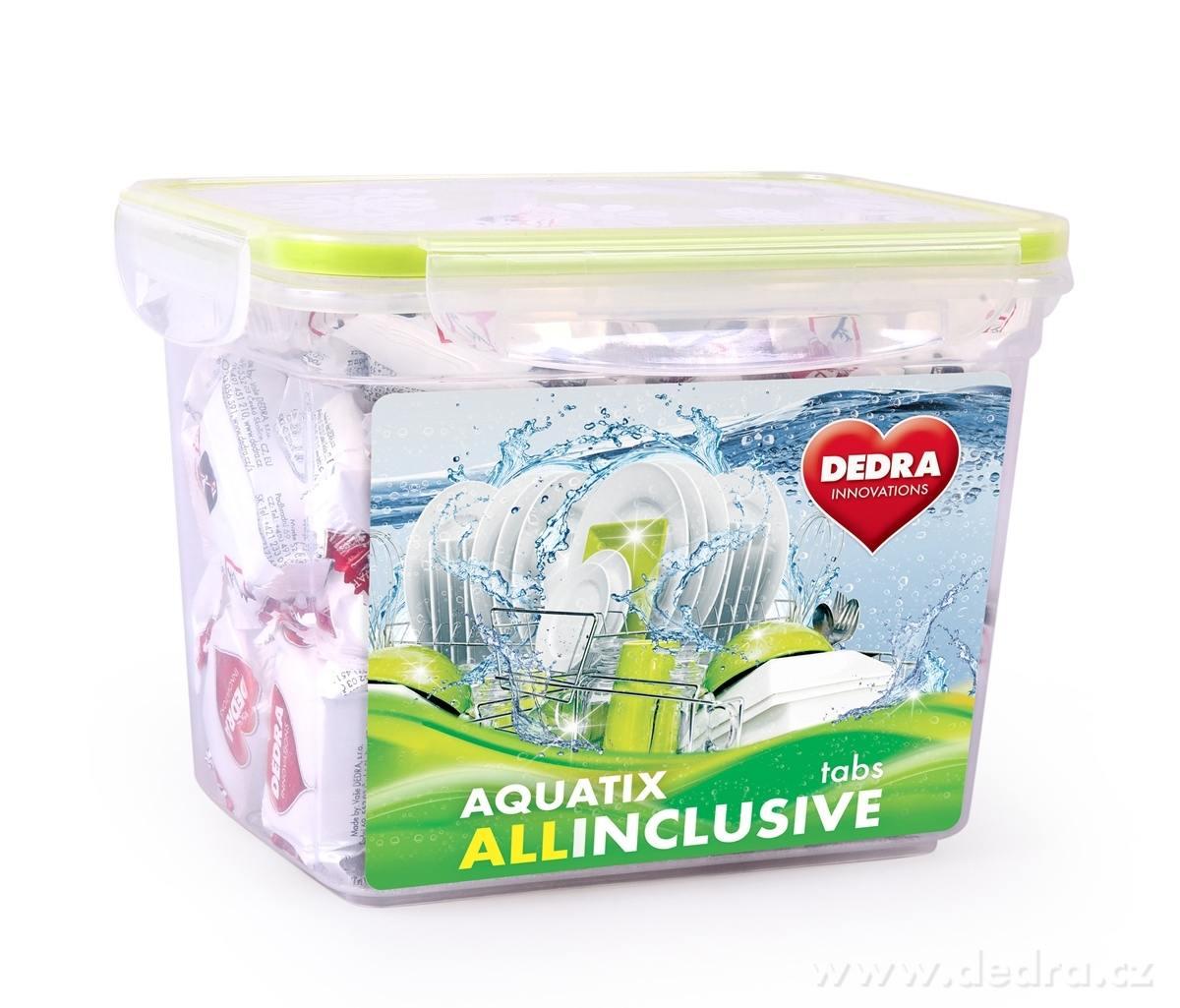 Dedra Aquatix Allinclusive 50 tabs + zdarma plastová dóza multifunkční tablety