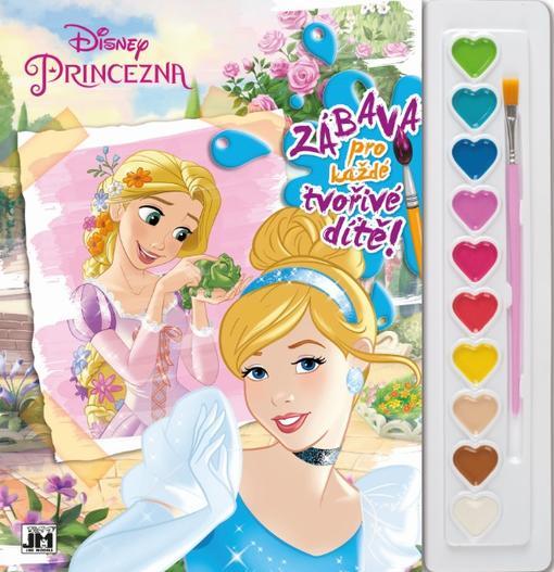 Jiri Models Omalovánky A4 s barvami Disney Princezny