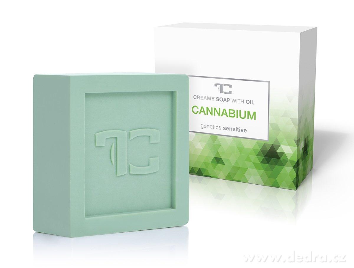 Dedra Cannabium rostlinné krémové mýdlo s konopným olejem 90 g