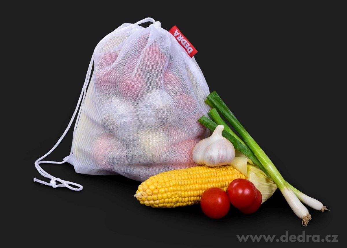 1ks Ekopytlík na potraviny, síťový sáček na pečivo, zeleninu, ovoce