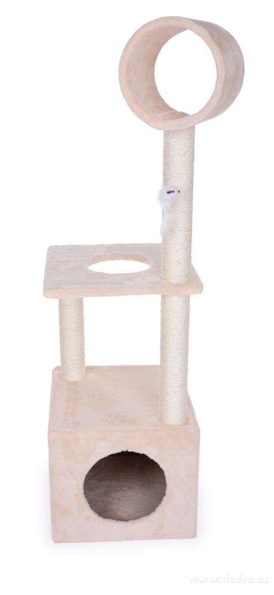 Dedra XL kočičí škrabadlo/prolézačka v krémové barvě