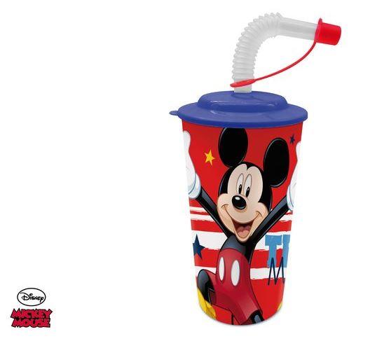 Eli Kelímek, hrnek s brčkem Mickey Mouse 500ml