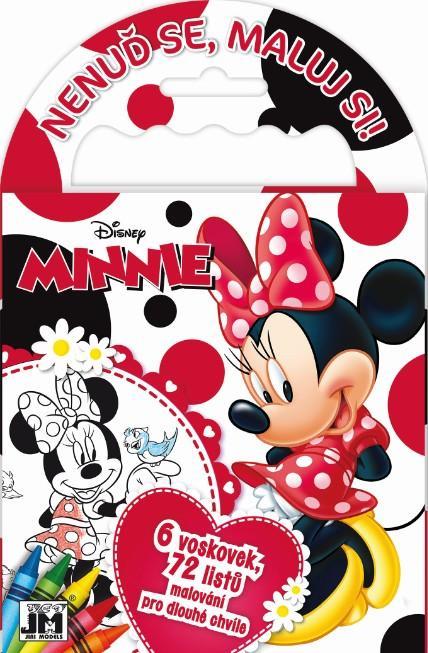Jiri Models Omalovánky s voskovkami na cesty Minnie