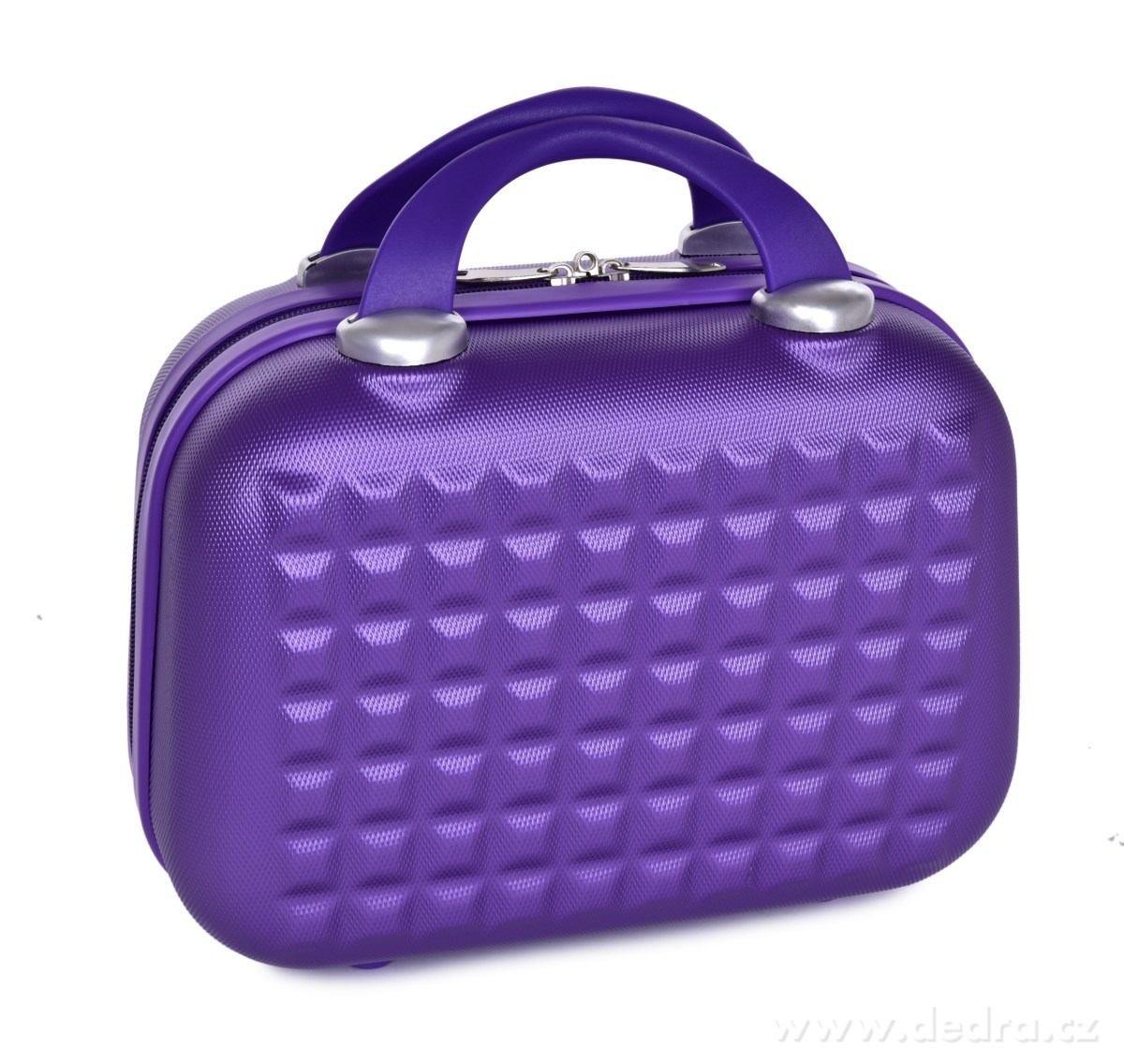 Dedra Kufr příruční větší Metalic purple 34 x 18 x 26 cm