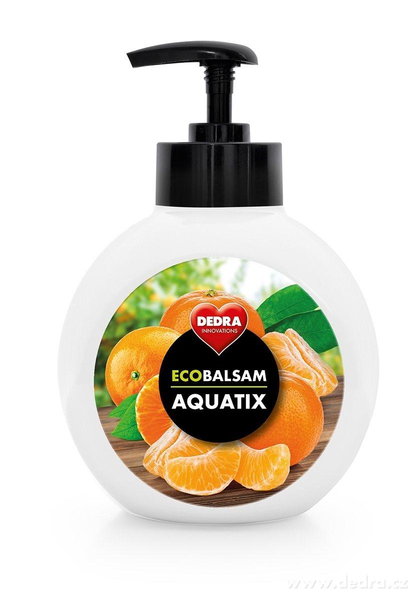 Dedra Ecobalsam aquatix koncentrát na ruční mytí nádobí, šťavnatá mandarinka s pumpičkou 500 ml