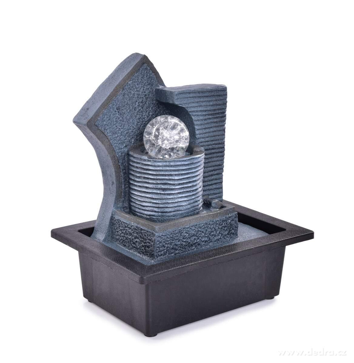 Dedra Kaskáda se zenovou koulí, pokojová fontána, s LED osvětlením