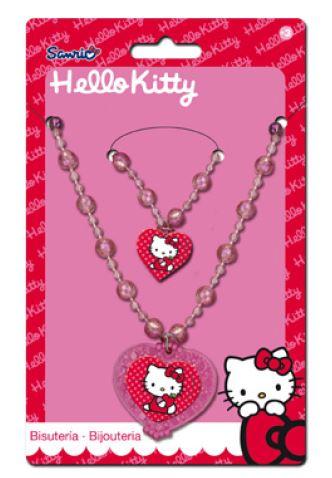 Fotografie Sanrio sada náramek a náhrdelní Hello Kitty