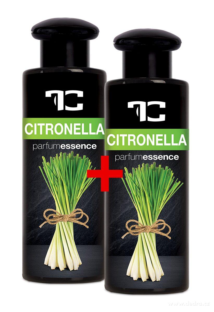 Dedra Sada 1+1 Citronella koncentrovaná parfémová esence, s obsahem přírodních éterických olejů , 2x 100 ml odpuzuje hmyz