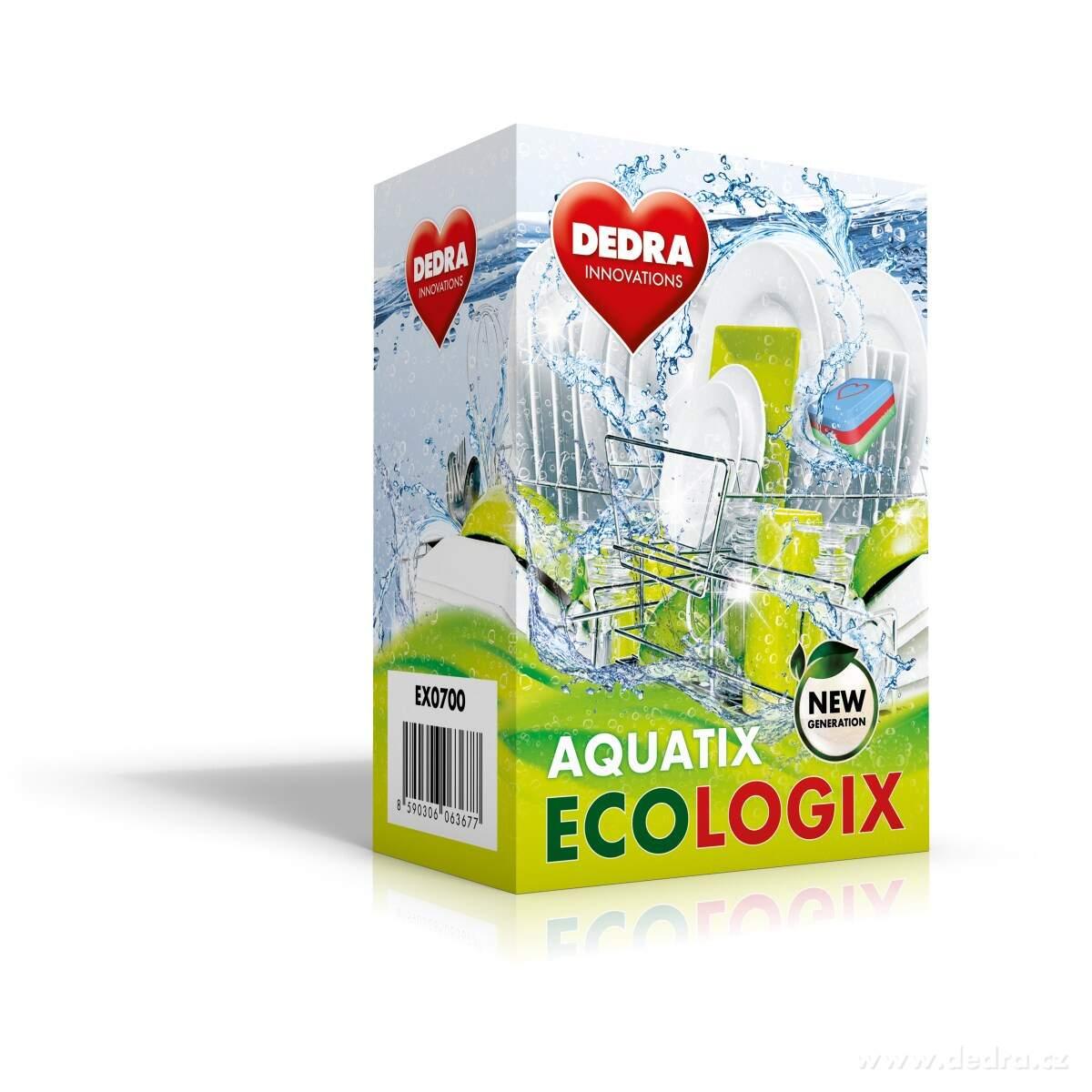 Dedra Aquatix ecologix multifunkční tablety do myčky, 60 tablet