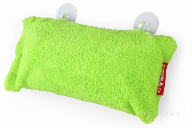 Dedra Polštář do vany z hebkého mikrovlákna nafukovací+přísavky, svěže zelený