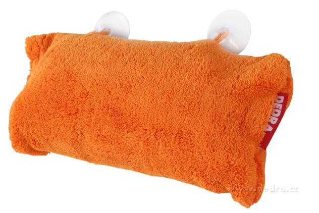 Dedra Polštář do vany z hebkého mikrovlákna nafukovací+přísavky, jasně oranžo