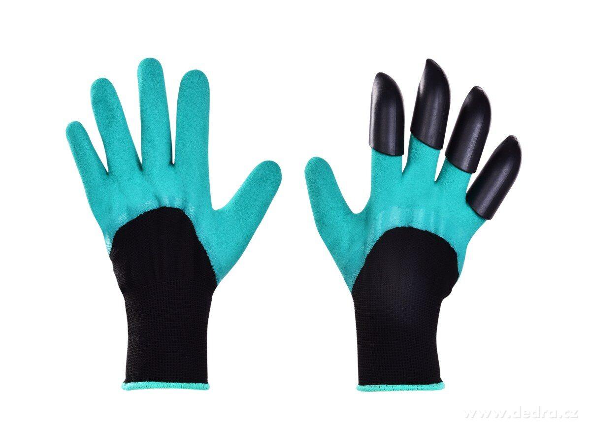 Dedra Hrabavice, pracovní rukavice se 4 drápy z pevného plastu