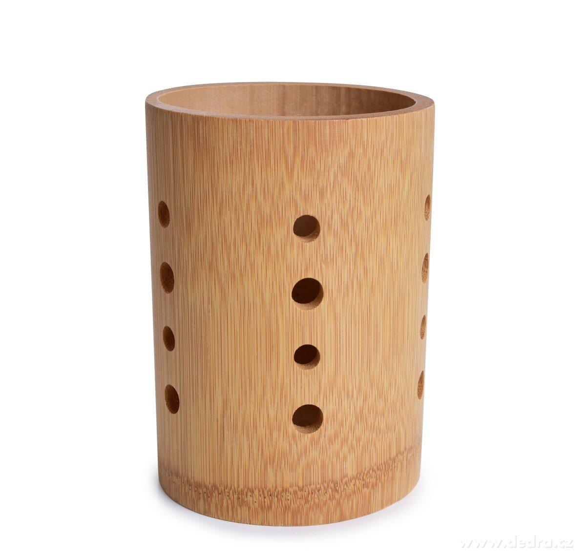Dedra Bambusový stojan na příbory a kuchyňské náčiní GoEco z bambusového masivu