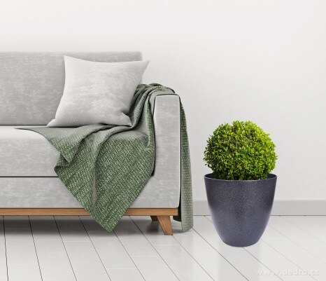 Dedra 32 cm Velký obal na květináč v designu granitu