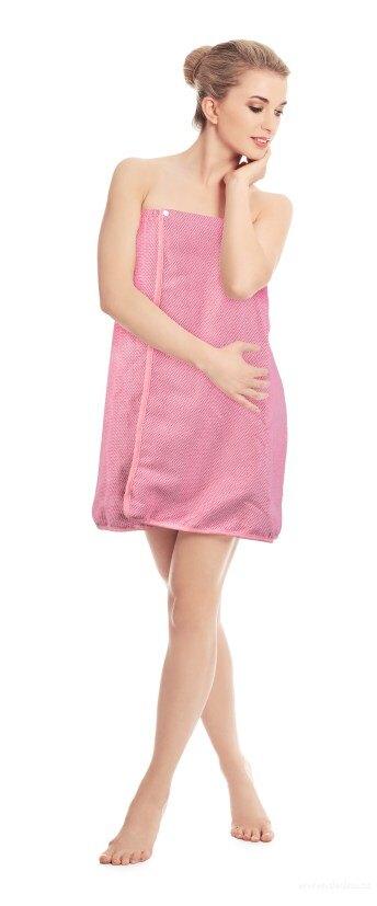 Dedra Koupelnový, saunový kilt, korálově růžový