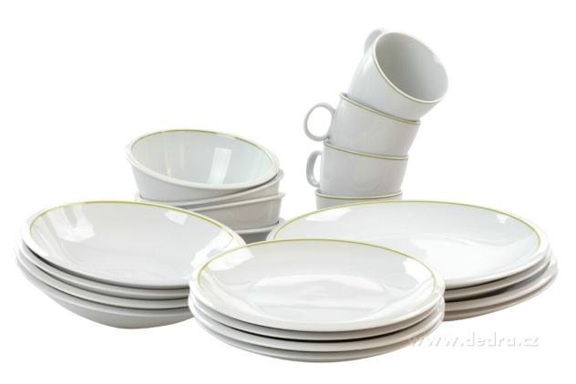Praktik 20 dílná porcelánová jídelní souprava Dedra