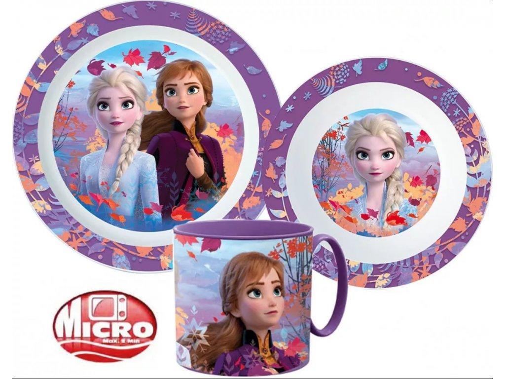 Plastová jídelní sada Frozen, Ledové království 2