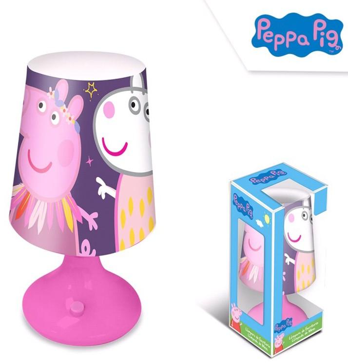 Euroswan Stolní lampička Peppa Pig, Prasátko Pepina fialová
