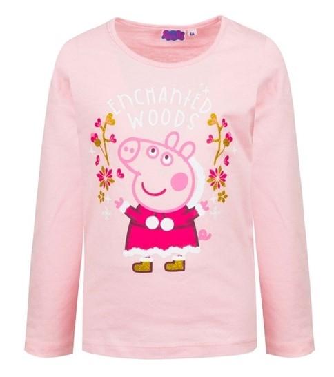 Sun City Třpytivé triko s dlouhým rukávem Peppa Pig, Prasátko Pepina