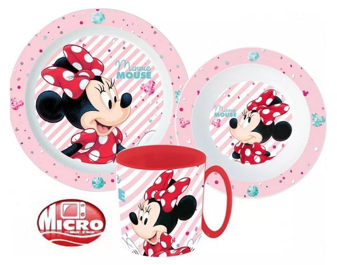 Plastová jídelní sada Minnie Mouse
