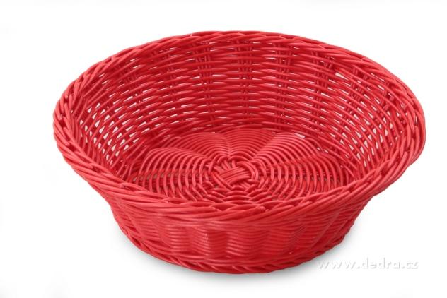DEDRA Plastová ošatka na pečivo,ovoce,... červená