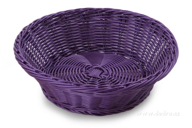 DEDRA Plastová ošatka na pečivo,ovoce,... fialová