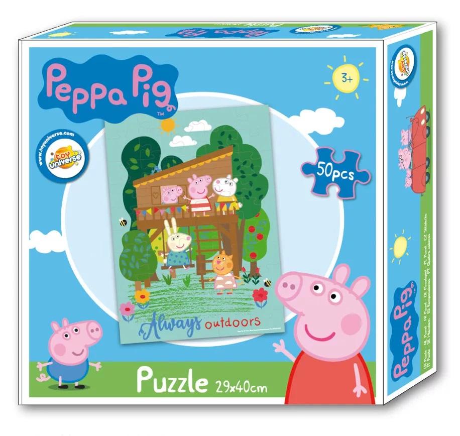 Puzzle Prasátko Pepina, Peppa pig 50 dílků