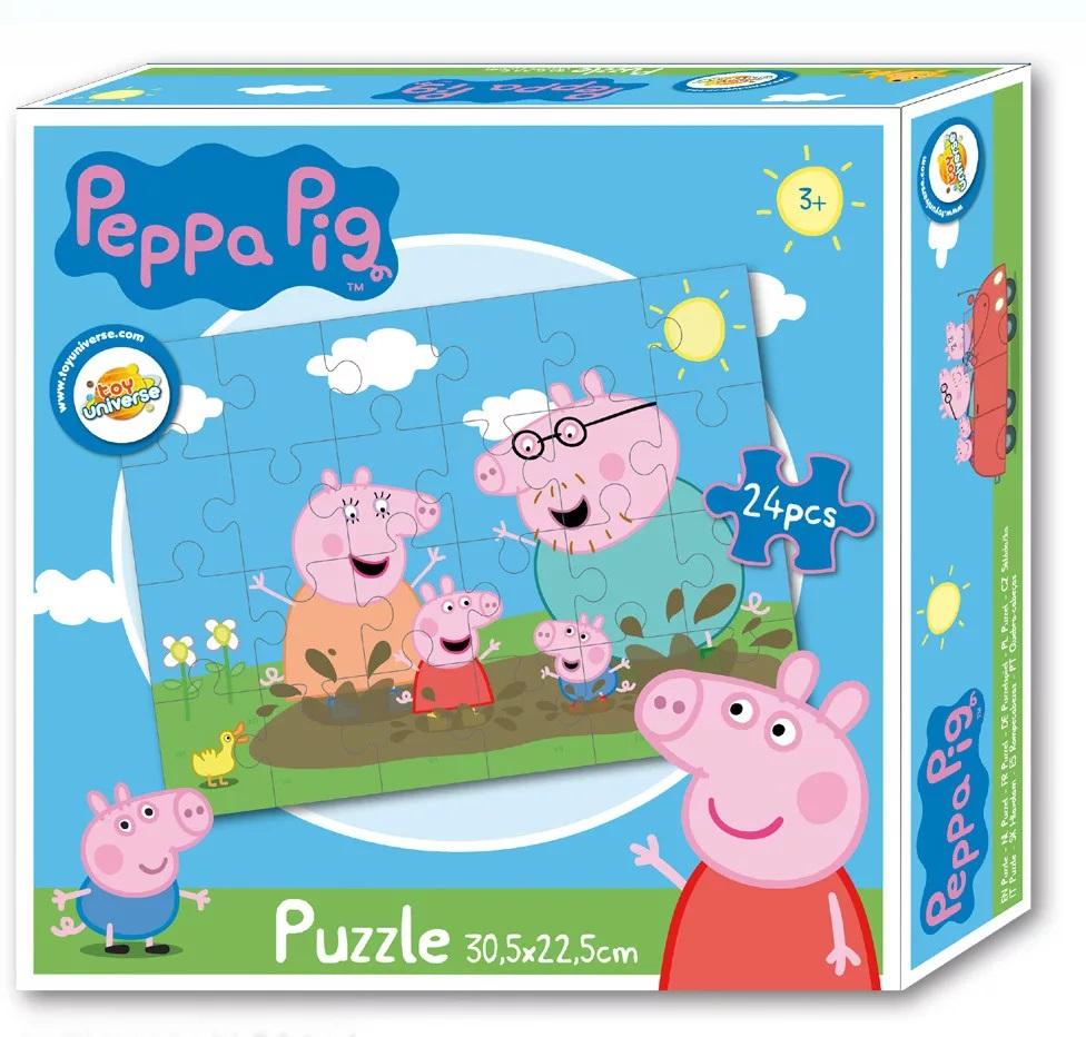 Puzzle Prasátko Pepina, Peppa pig family 24 dílků