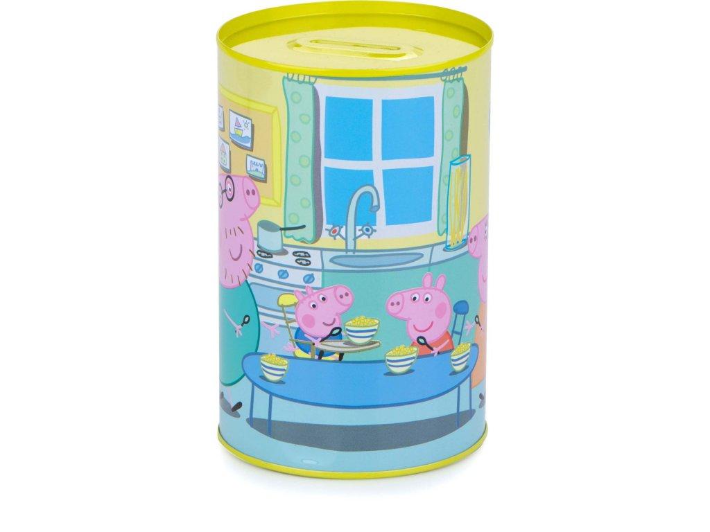 Plechová pokladnička Peppa Pig, Prasátko Pepina žlutá