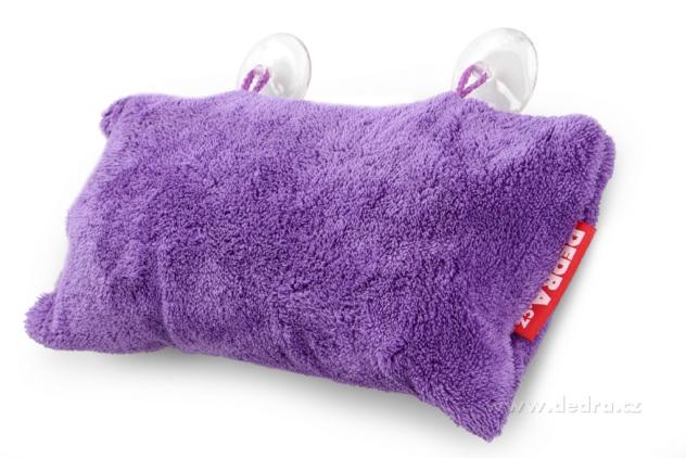 Dedra Polštář do vany z hebkého mikrovlákna nafukovací+přísavky , fialový