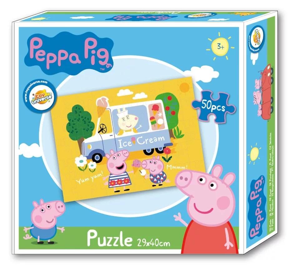 Puzzle Prasátko Pepina, Peppa pig 50 dílků Ice cream