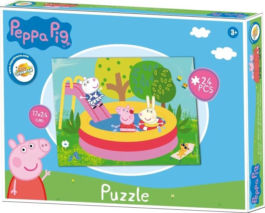 Puzzle Prasátko Pepina, Peppa pig 24 dílků summer
