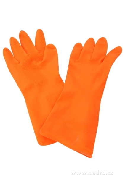 Dedra Ochranné rukavice gumové, oranžové